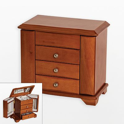 Mele & Co Wood Jewelry Box