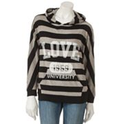 Derek Heart Striped Love University 1959 Hooded Rugby Top - Juniors
