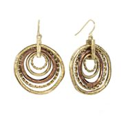 SONOMA life + style Textured Hoop Drop Earrings
