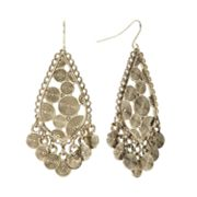 SONOMA life + style Gold Tone Etched Chandelier Earrings