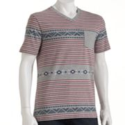 Hang Ten Serration V-Neck Pocket Tee - Men
