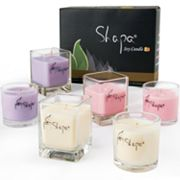 Wen's Phoenix Shapa 6-pc. Rose, Lavender and Gardenia Soy Filled Candle Set