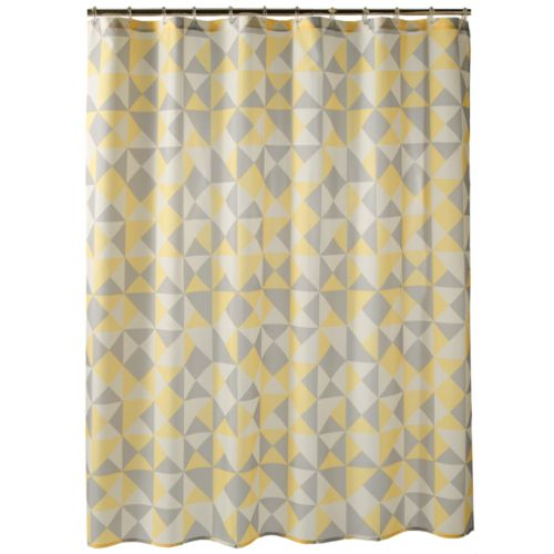 Apt. 9® Optica Geometric Fabric Shower Curtain