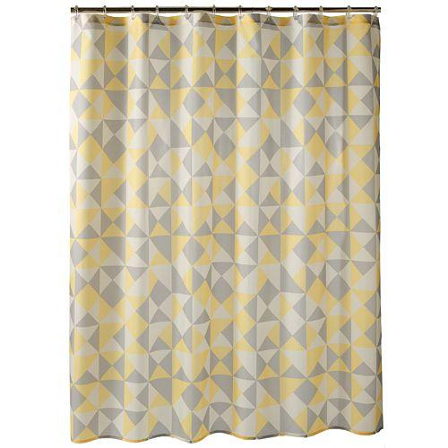 Apt 9R Optica Geometric Fabric Shower Curtain