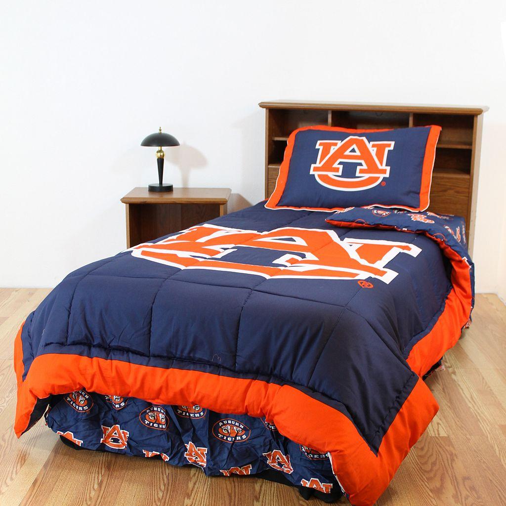 Auburn Tigers Reversible Comforter Set - Queen