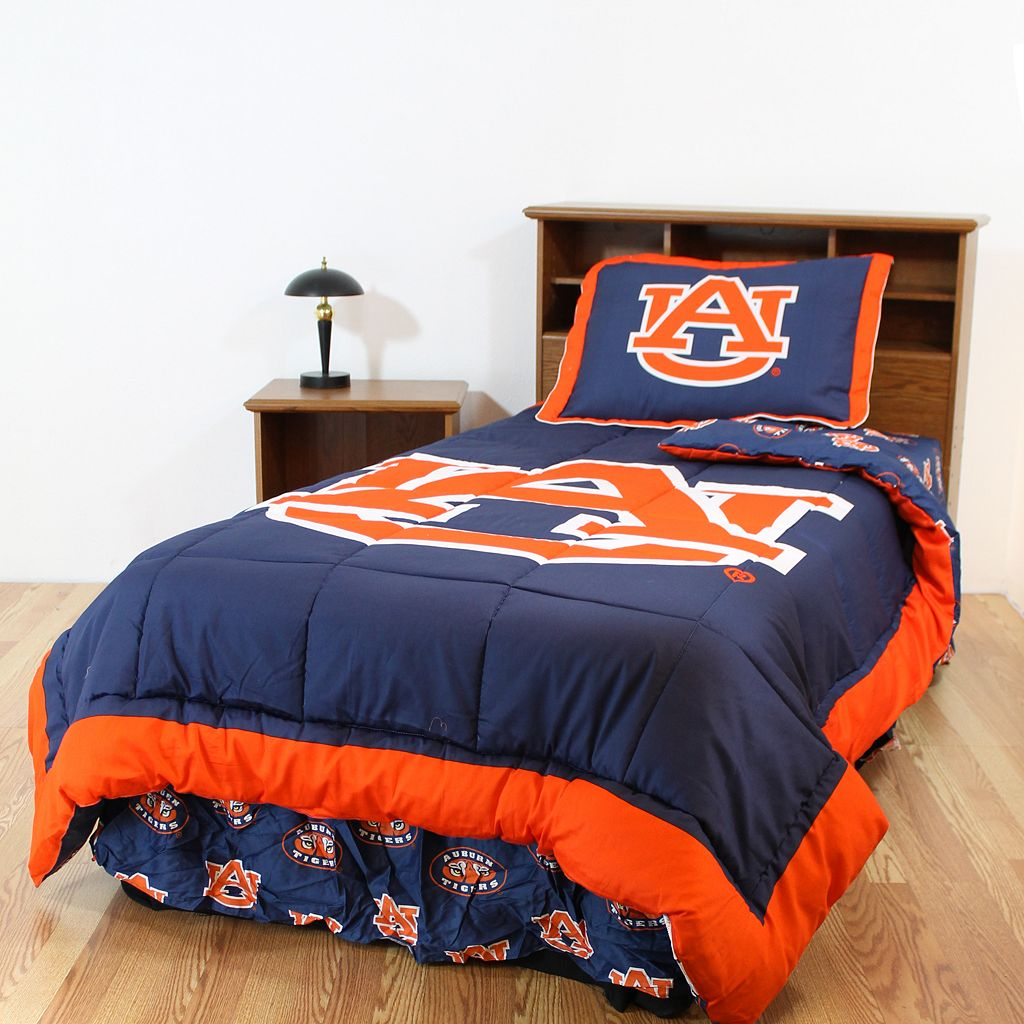 Auburn Tigers Reversible Comforter Set - King