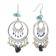 SONOMA life + style Silver Tone Bead Chandelier Earrings