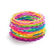 SO Multicolored Wavy Jelly Bracelet Set