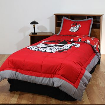 Georgia Bulldogs Reversible Comforter Set - Twin