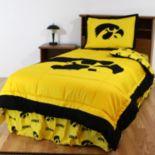 Iowa Hawkeyes Reversible Comforter Set - Full