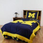 Michigan Wolverines Reversible Comforter Set - Queen