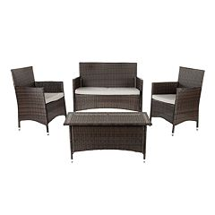 Safavieh Mojavi 4-pc. Wicker Patio Set