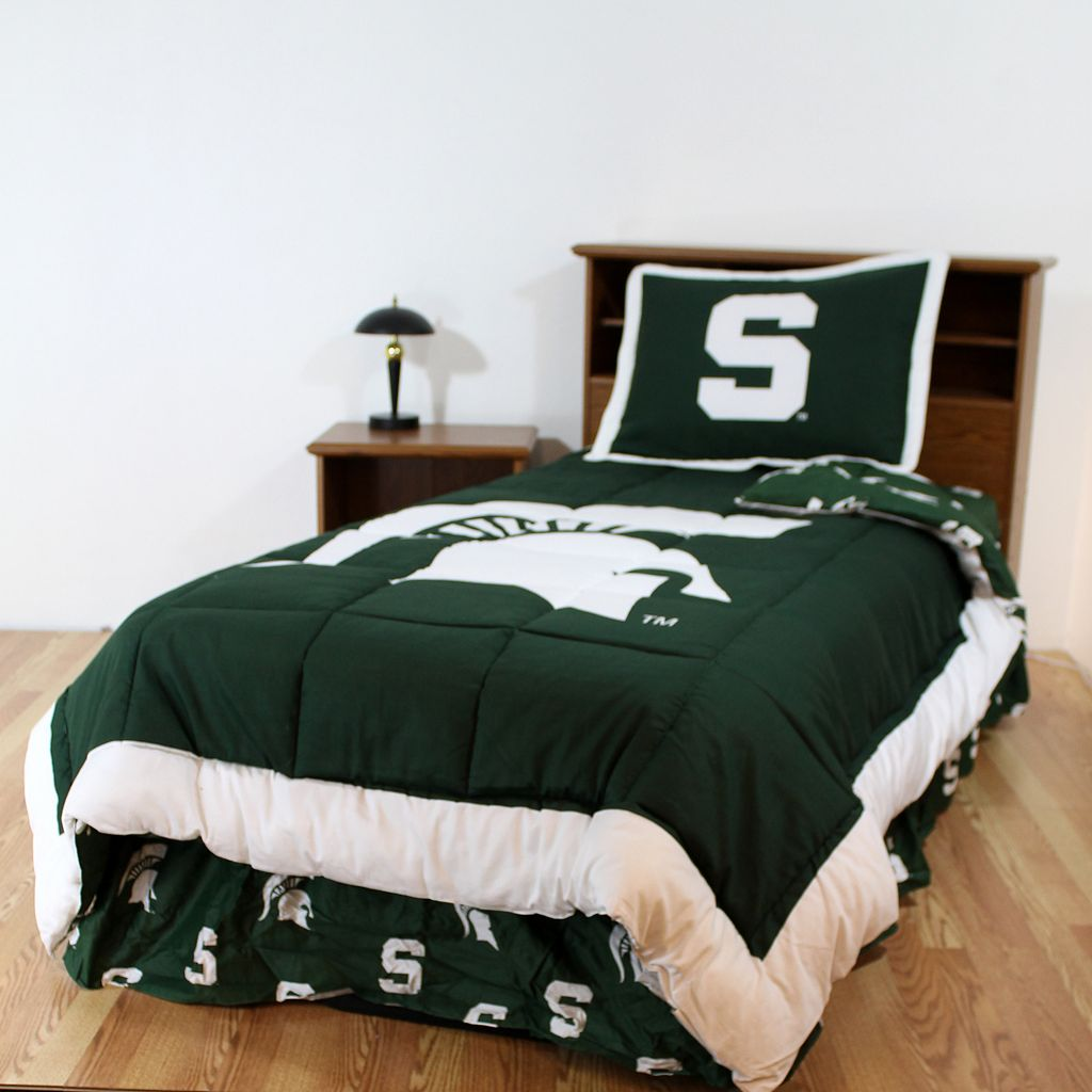 Michigan State Spartans Reversible Comforter Set - Queen