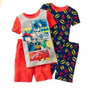 Justice League 4-pc. Logo Pajama Set - Boys 4-10