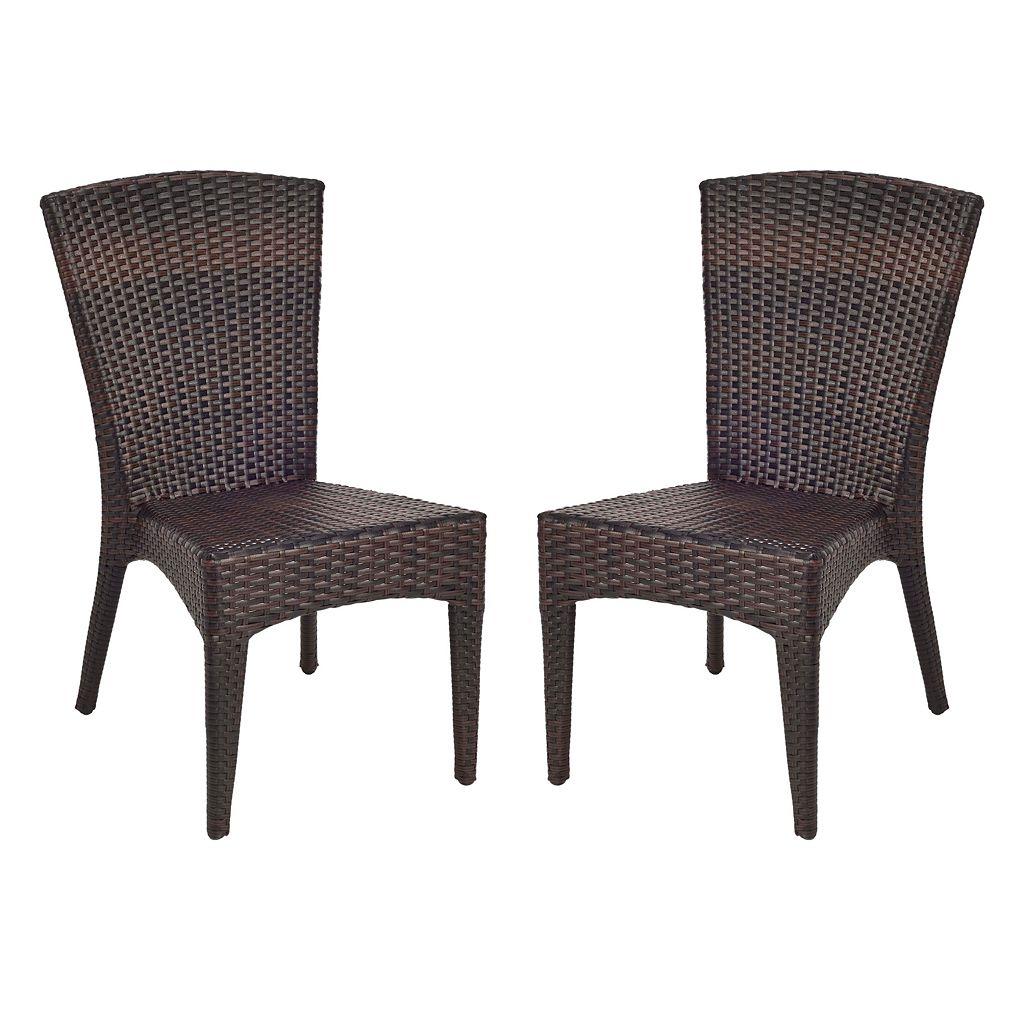 Safavieh 2-pc. New Castle Wicker Chair Set