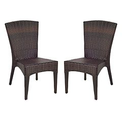 Safavieh 2 pc New Castle Wicker Chair Set