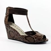 New York Transit Joyful T-Strap Wedge Sandals - Women