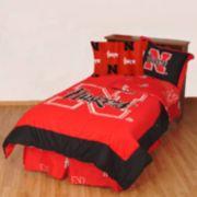 Nebraska Cornhuskers Reversible Comforter Set - Full