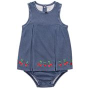 Carter's Gingham Cherry Sunsuit - Baby