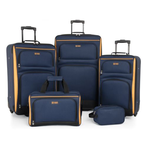 95.99 Chaps Luggage, Voyager Pro 5 Piece Luggage Set - dealepic