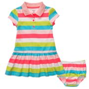 Carter's Rainbow Striped Knit Polo Dress - Baby