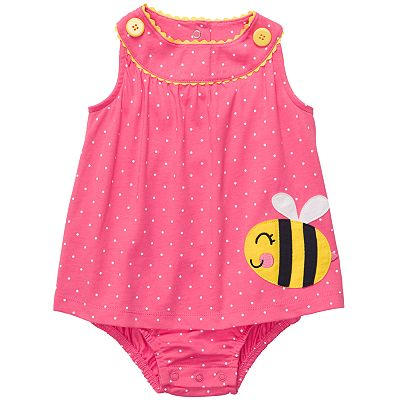 Carter's Dotted Bee Sunsuit - Baby