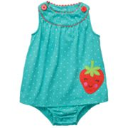 Carter's Dotted Strawberry Sunsuit - Baby