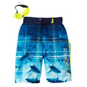 ZeroXposur Shark Reef Board Shorts - Boys 8-20
