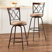 SONOMA life + style 2-pc. Shelton Swivel Stool Set