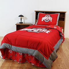 Ohio State Buckeyes Reversible Comforter Set - Twin