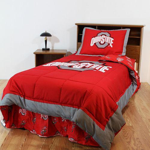 Ohio State Buckeyes Reversible Comforter Set - Queen