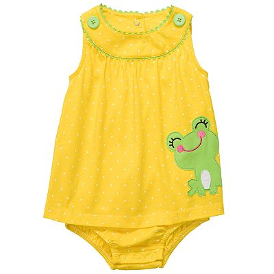 Carter's Dotted Frog Sunsuit - Baby