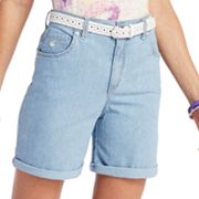 Gloria Vanderbilt Amanda Slimming Striped Denim Shorts