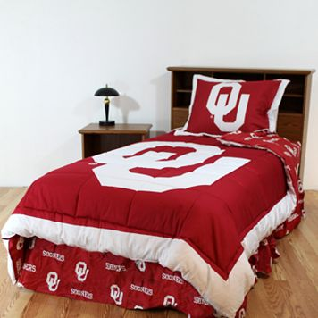 Oklahoma Sooners Reversible Comforter Set - Queen