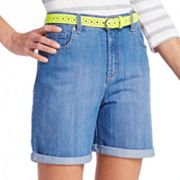 Gloria Vanderbilt Amanda Slimming Cuffed Denim Shorts