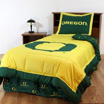 Oregon Ducks Reversible Comforter Set - Queen
