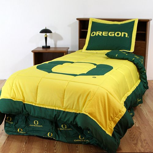Oregon Ducks Reversible Comforter Set - King