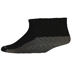 Men's Dickies 6 pkDri-Tech Comfort Moisture-Control Quarter Crew Socks