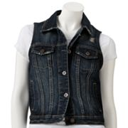 Mudd Denim Button-Front Vest - Juniors