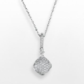 14k White Gold .25 T.W. Diamond Pendant