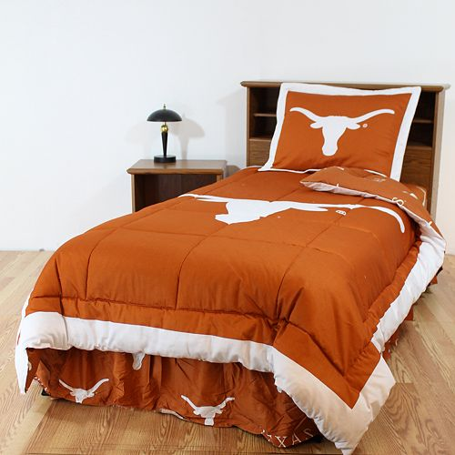 Texas Longhorns Reversible Comforter Set - Queen