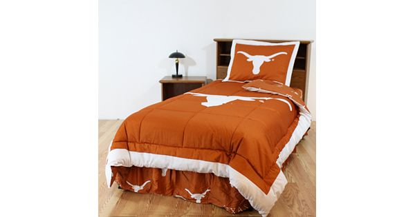 Texas Longhorns Reversible Comforter Set Queen