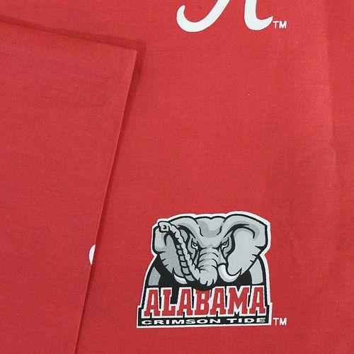 Alabama Crimson Tide Printed Sheet Set - King