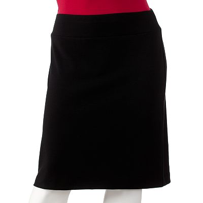 ELLE Ponte Pencil Skirt - Women's Plus