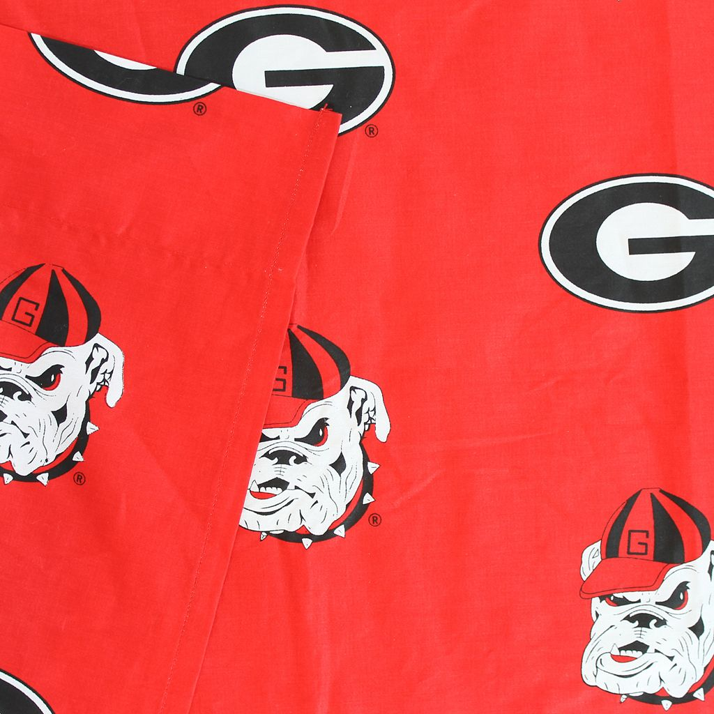 Georgia Bulldogs Printed Sheet Set - King