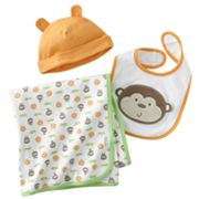 First Moments Monkey Blanket Set - Baby