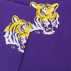 LSU Tigers Printed Sheet Set - Queen