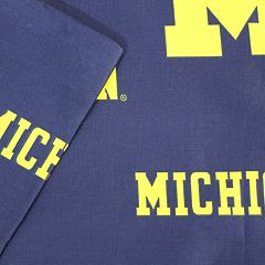 Michigan Wolverines Printed Sheet Set - Twin