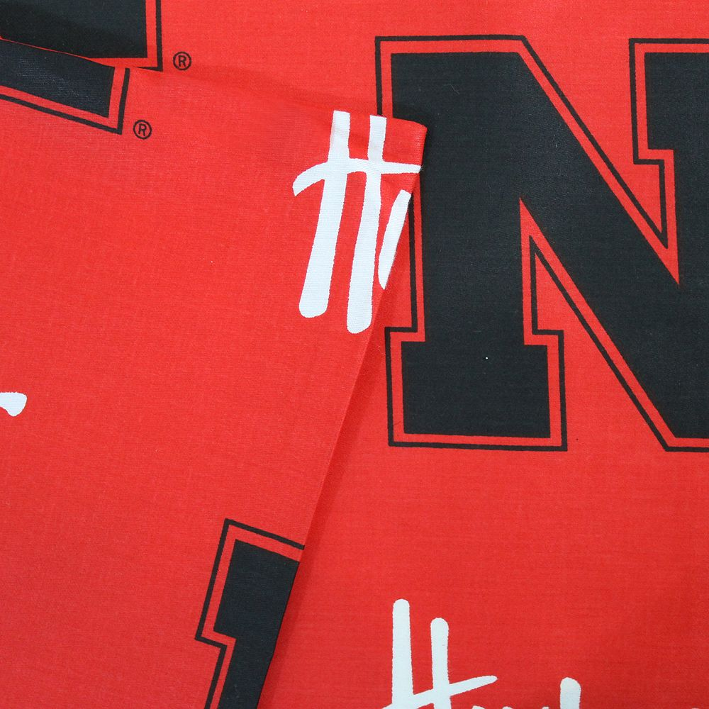 Nebraska Cornhuskers Printed Sheet Set - Twin