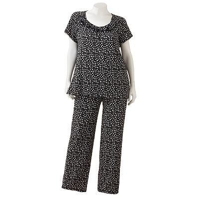 Chaps My Fair Lady Floral Pajama Set - Women's Plus